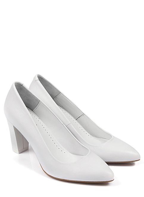 G.Ö.N. Hakiki Deri Ayakkabı Beyaz